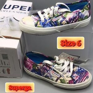 Superga Flower Women's Sneakers Size 6 NEW